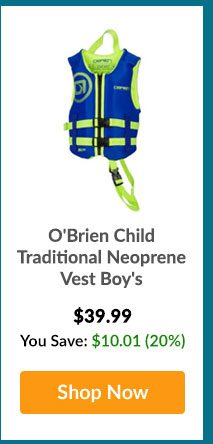 O'Brien Child Traditional Neoprene Vest Boy's - Shop Now