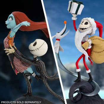 """Sandy Claws and """"Jack, I'm Flying"""" Q-Fig Elite (Disney) Collectible Figure by Quantum Mechanix"""