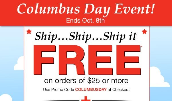 Columbus Day Sale Email