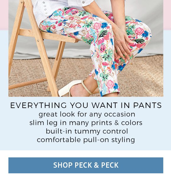 everything you want in pants - great look for any occasion, slim leg in may prints and colors