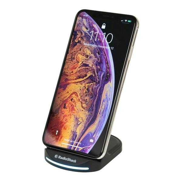 RadioShack 15W Fast Wireless Charging Stand with Quick Charge 3.0 Adapter