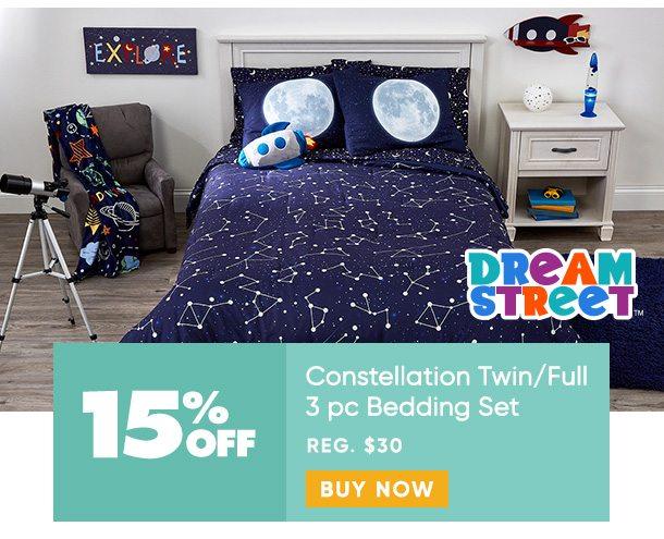 15% off Constellation 3pc Bedding Set