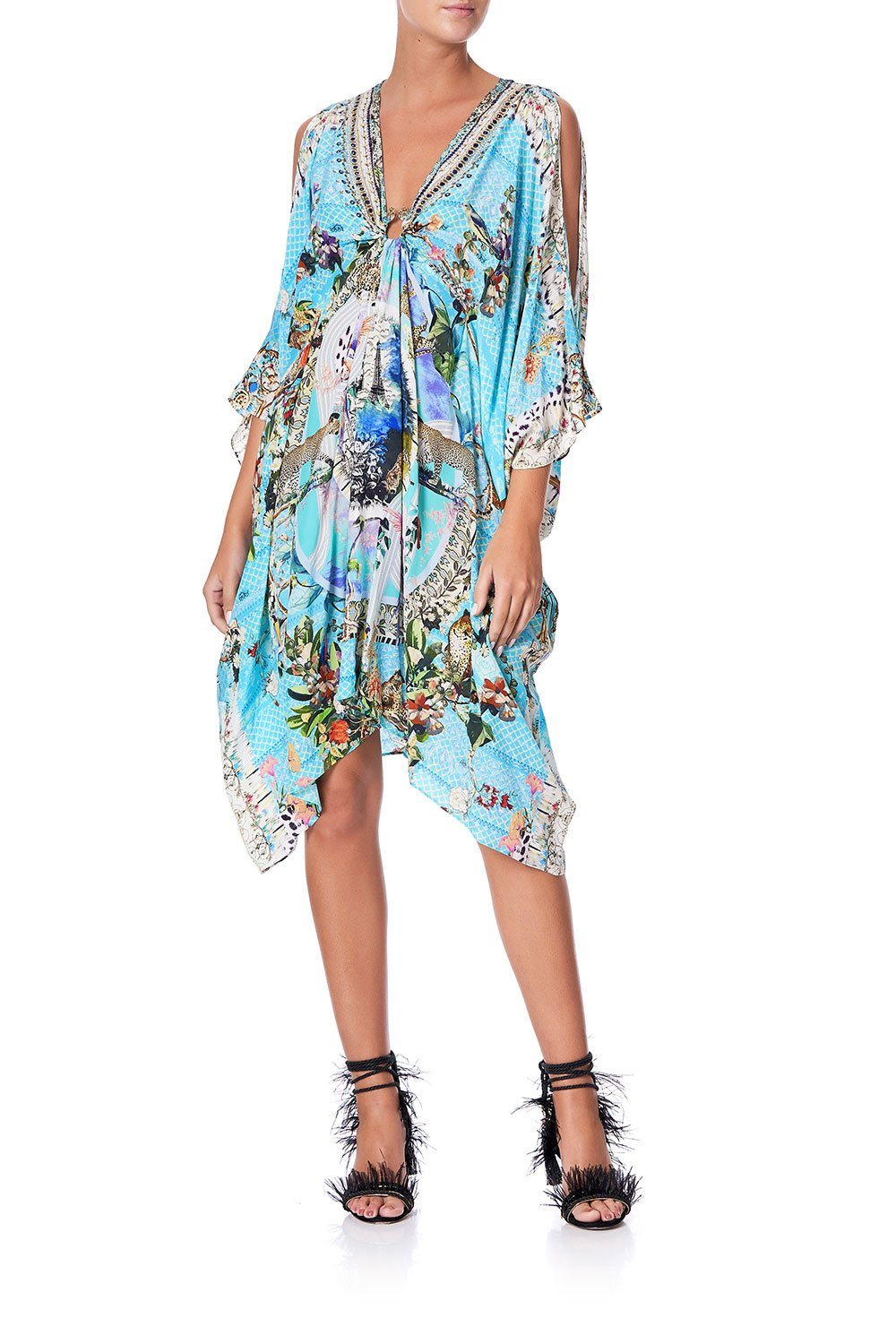 Image of SHORT KAFTAN WITH HARDWARE GIRL FROM ST TROPEZ