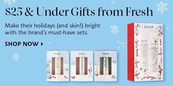 Fresh 25 and under gifts