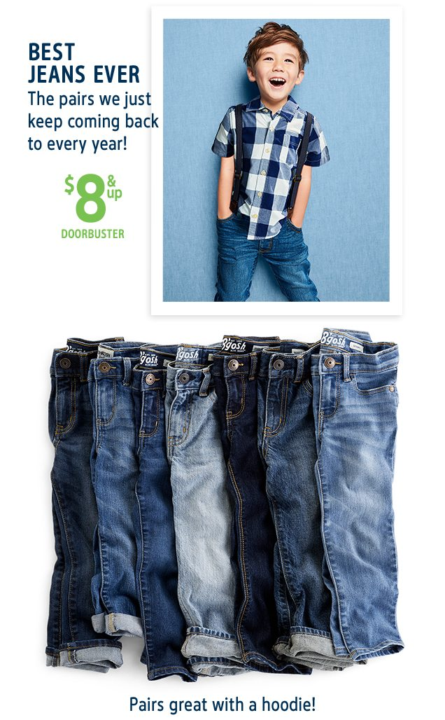 BEST JEANS EVER | The pairs we just keep coming back to every year! | $8 & up DOORBUSTER | Pairs great with a hoodie!