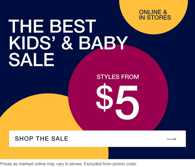 THE BEST KIDS' AND BABY SALE