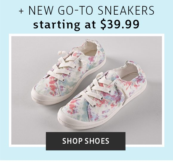 new go-to sneakers starting @ 39.99 - shop shoes