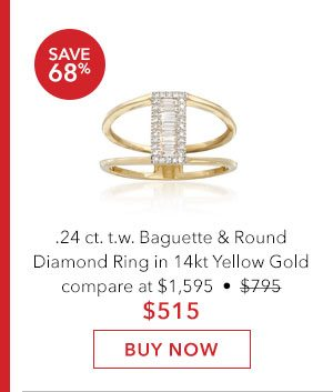 Diamond Ring in 14kt Yellow Gold. Buy Now