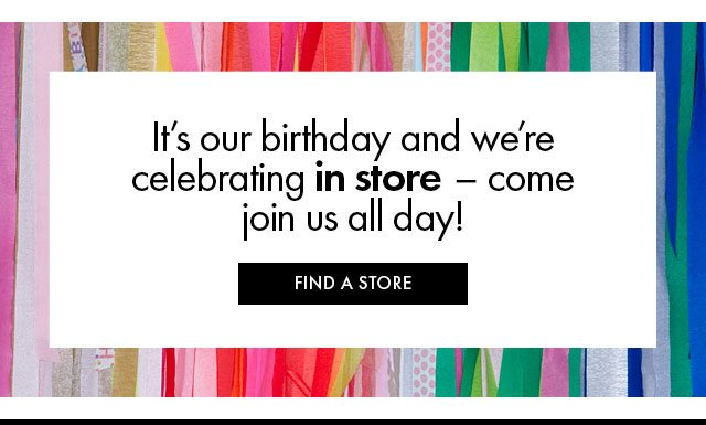 Shop Birthday In Store