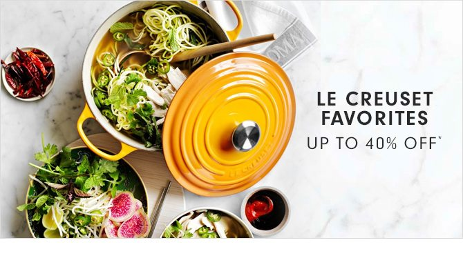LE CREUSET FAVORITES - UP TO 40% OFF*