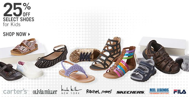 Shop 25% Off Select Shoes for Kids
