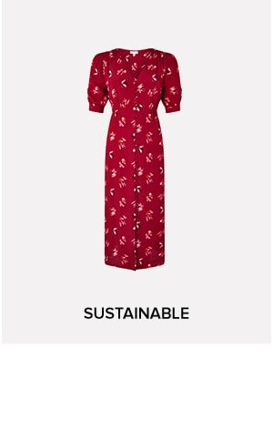 BETTY FLORAL TEA DRESS IN SUSTAINABLE VISCOSE