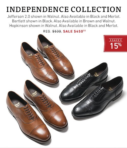 Save %15 on the Independence Collection
