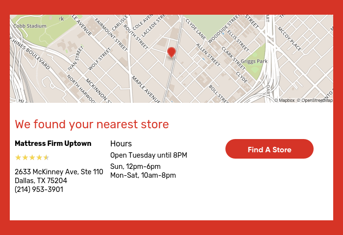 We Found Your Nearest Store