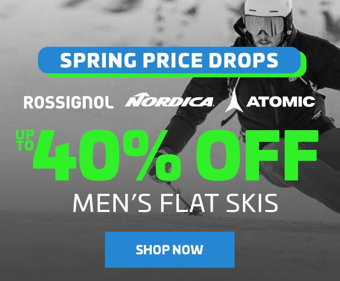 UP TO 40% OFF MEN'S FLAT SKIS - BANNER