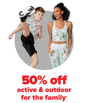 Daily Deals - 50% off active & outdoor for the family.