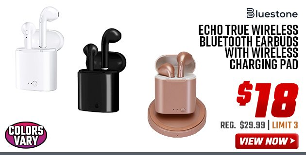 18 Bluestone Echo Bluetooth Earbuds With Charging Pad Other 1 Day Deals Wednesday Only Big 5 Sporting Goods Email Archive