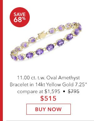 Oval Amethyst Bracelet. Buy Now
