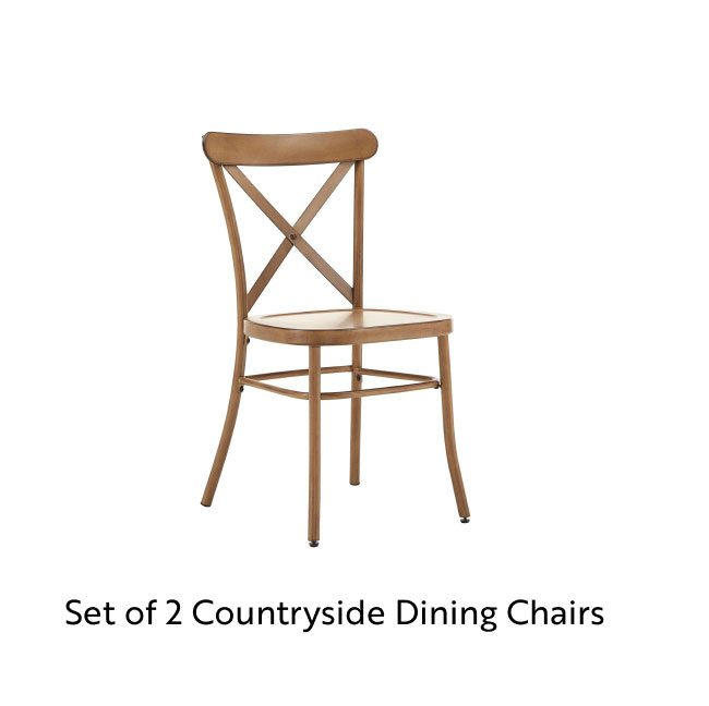 Set of 2 Countryside Dining Chairs