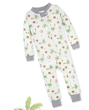 Coco-Nuts Organic Baby Zip Front Snug Fit Footless Pajama