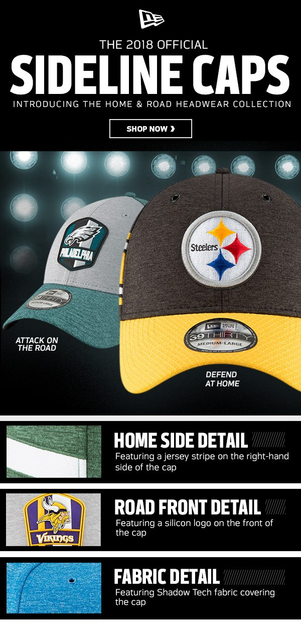 813ae16cfb2b76 NEW For 2018: NFL Sideline Hats - NFLShop Email Archive