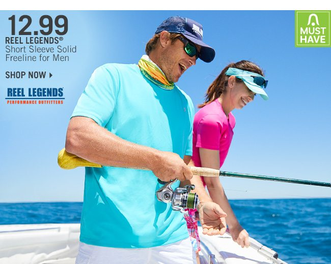 Shop 12.99 Reel Legends Short Sleeve Freeline for Men