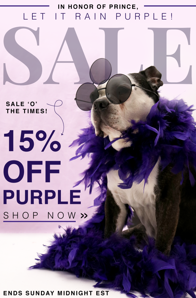 SHOP 15% OFF ALL THINGS PURPLE