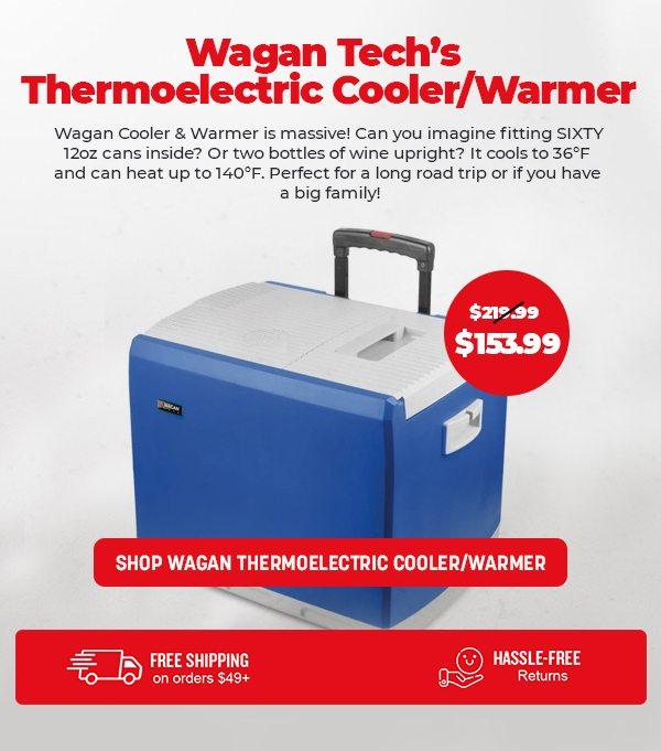 Wagan Tech 46-Quart 12V Thermoelectric Cooler/Warmer