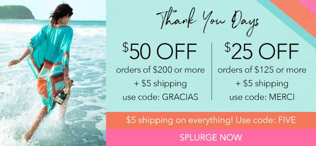 $50 off purchase of $200. $25 off purchase of $125