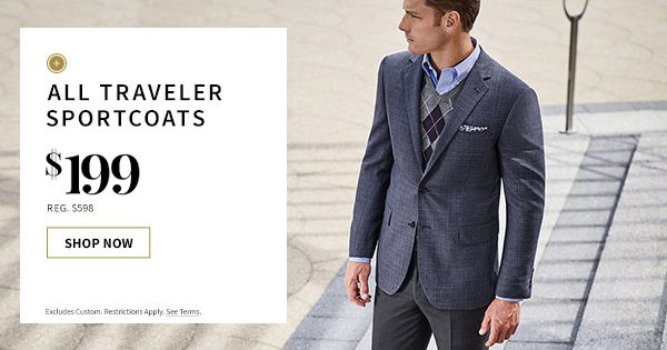 $199 All Traveler Sportcoats