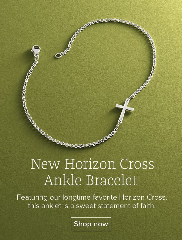 New Horizon Cross Ankle Bracelet - Featuring our longtime favorite Horizon Cross, this anklet is a sweet statement of faith. Shop now