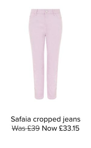 SAFAIA CROPPED JEANS WITH ORGANIC COTTON