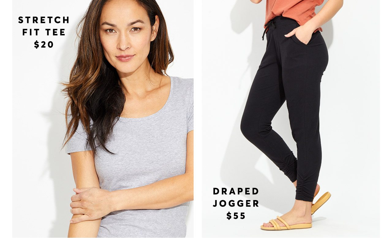 Stretch Fit Tee and Draped Jogger