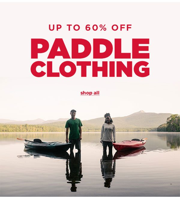 Up to 60% OFF Paddle Clothing - Click to Shop All