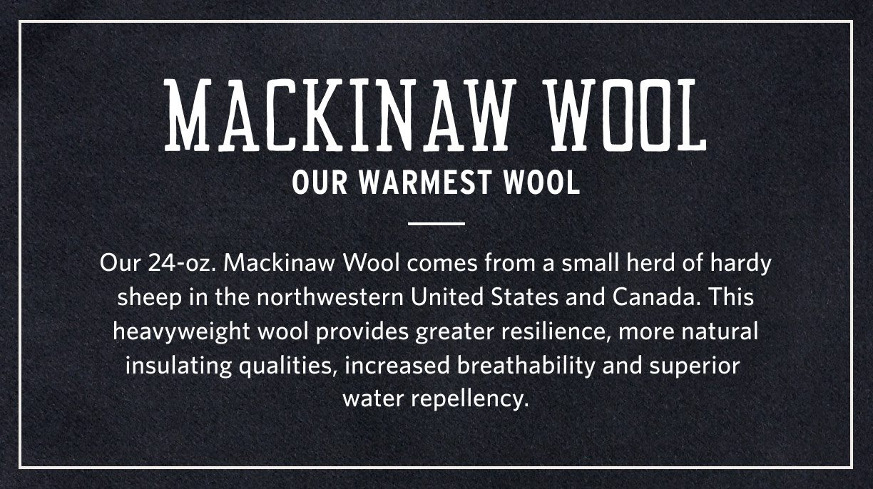 MACKINAW WOOL VESTS