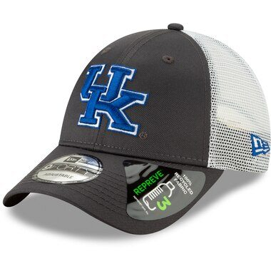 Kentucky Wildcats New Era Repreve Trucker 9FORTY Snapback Adjustable Hat - Graphite