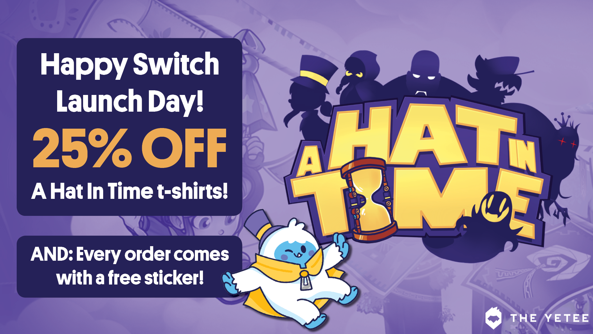 25 Off A Hat In Time Tees This Weekend Only The Yetee Email Archive Antagonized by an omniscienct robot while you solve murder puzzles. 25 off a hat in time tees this weekend