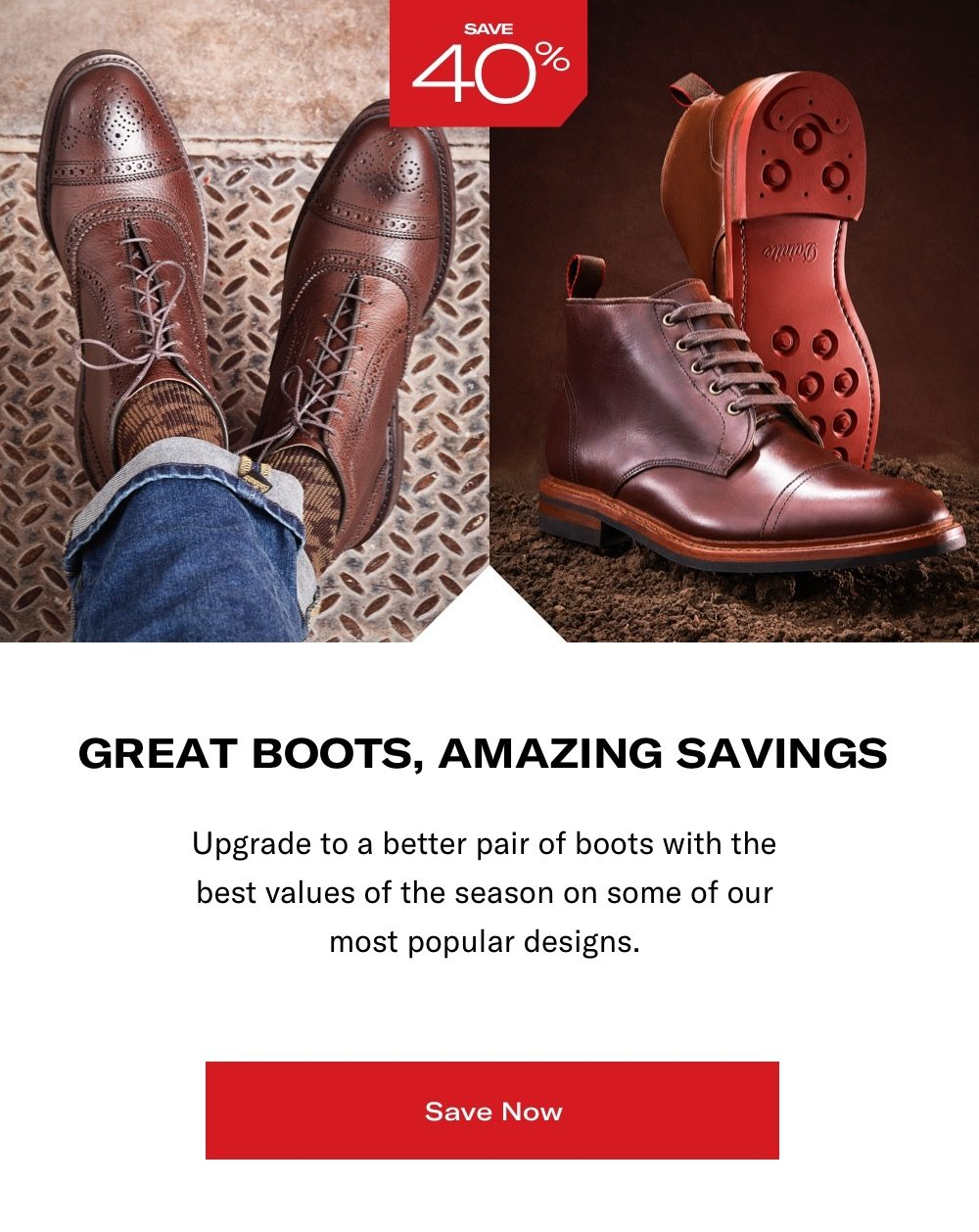 Save on Boots Now