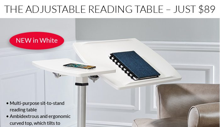 The Levenger Reading Table now $89