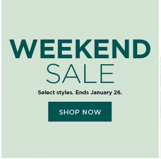 weekend sale. shop now.