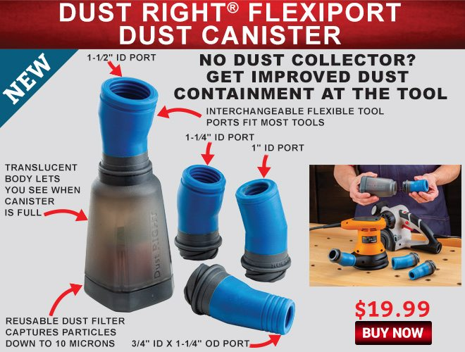 New! Dust Right Flexiport Dust Canister