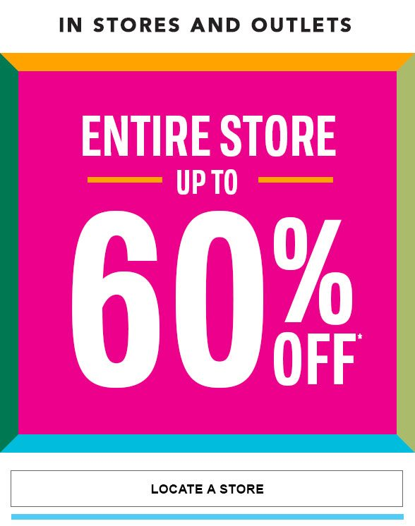 Up to 60% Off Entire Store