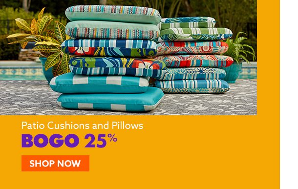 BOGO 25% Off Cushions & Pillows