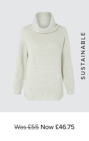 FARLEY COWL NECK KNIT JUMPER WITH WOOL AND RECYCLED POLYESTER