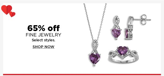 65% off fine jewelry. select styles.