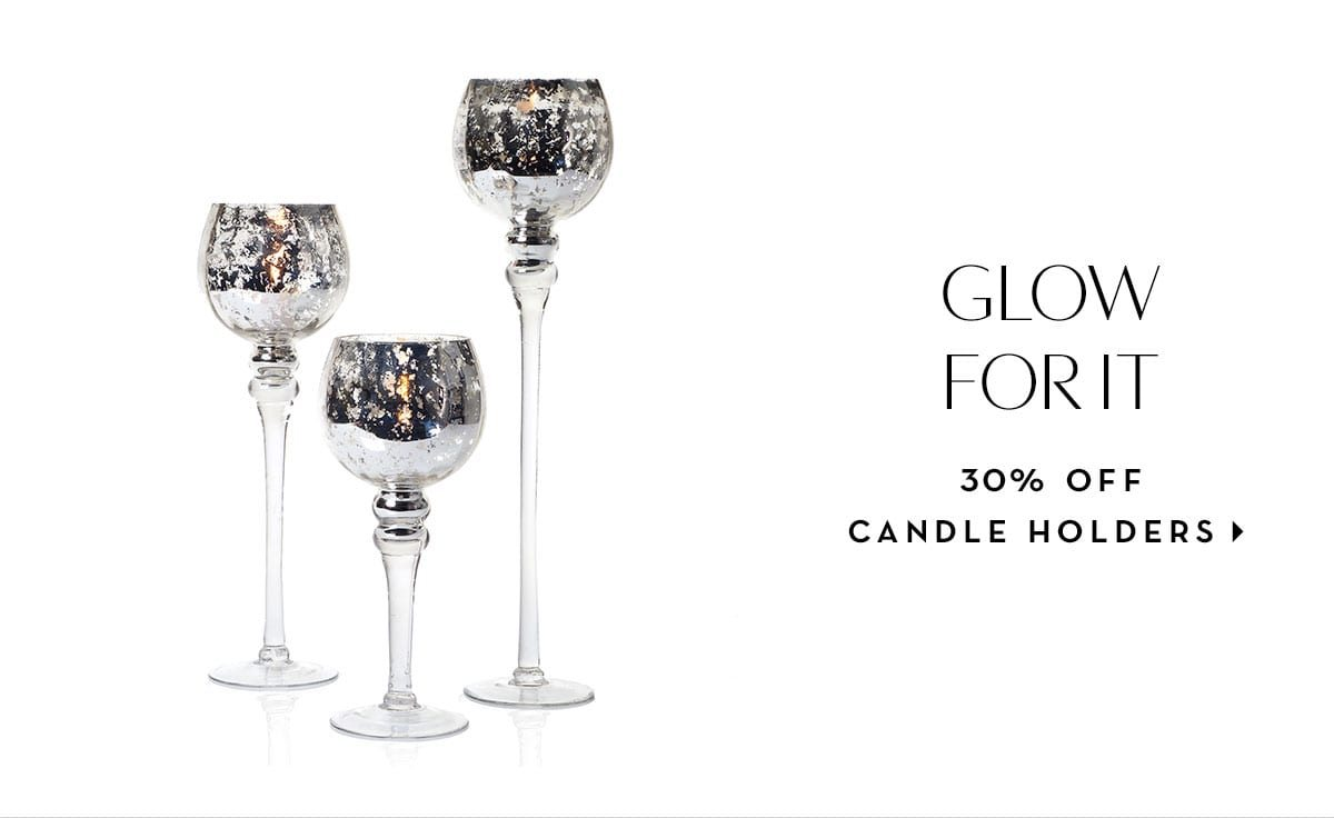 30% off candle holders
