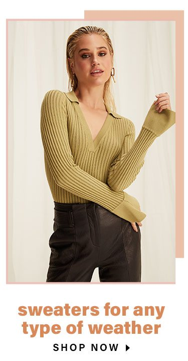 Everything We Love About Layering Season: Sweaters for Any Type of Weather - Shop Now