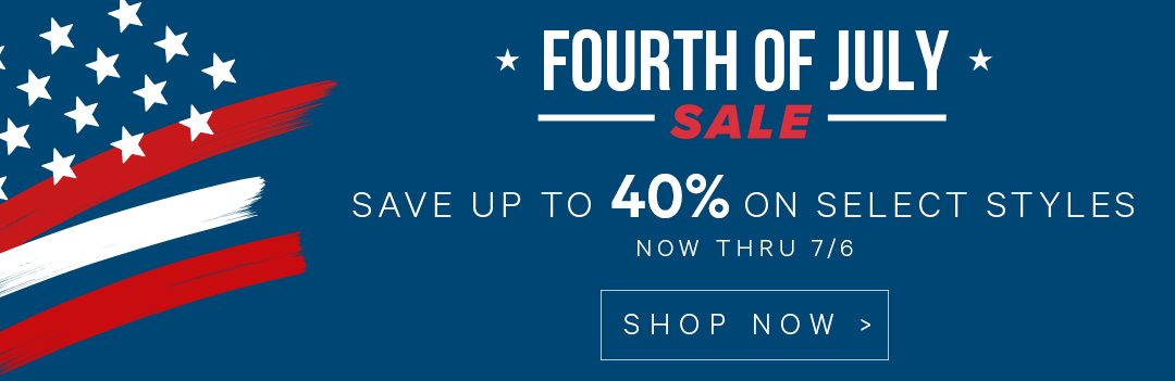 Save up to 40% on select styles