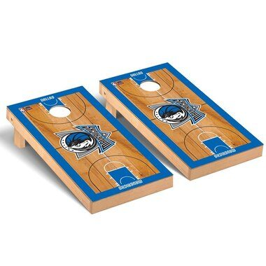 Dallas Mavericks 2' x 4' Court Museum Cornhole Board Tailgate Toss Set