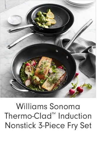 Williams Sonoma Thermo-Clad™ Induction Nonstick 3-Piece Fry Set